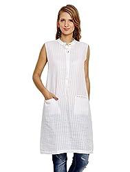 Jalebe Women's Tunic Dress_INDTJBS003_White_M