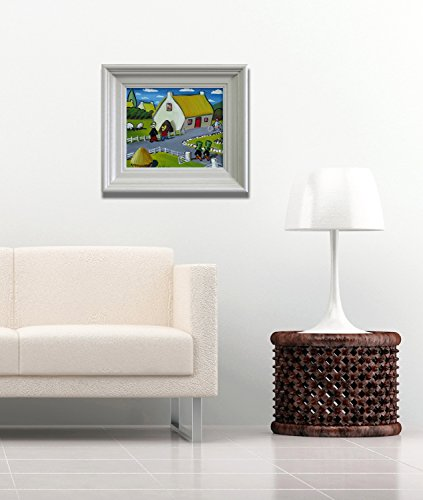 a-sunny-day-original-oil-painting-framed-by-mikey-roberts-art-from-ireland-free-worldwide-shipping