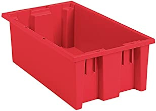 AKRO-MILS Stack and Nest Tote Box - 18x11x6quot - Red