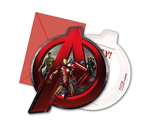 6 Cartes dinvitation + enveloppes Avengers Lère dUltron