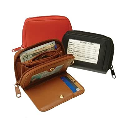 Royce Leather ID Wallet With Key Fob