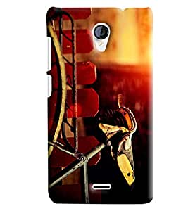 Blue Throat Old Cycle Printed Designer Back Cover/Case For Micromax Unite2 (A106)