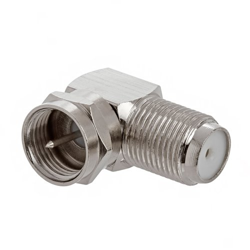 SavvyTronics Coaxial Type F (Female to Male) Right Angle Adapter