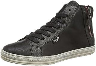 Dockers 32LN213, Sneakers femme - Noir (Schwarz/Silber 155), 36 EU