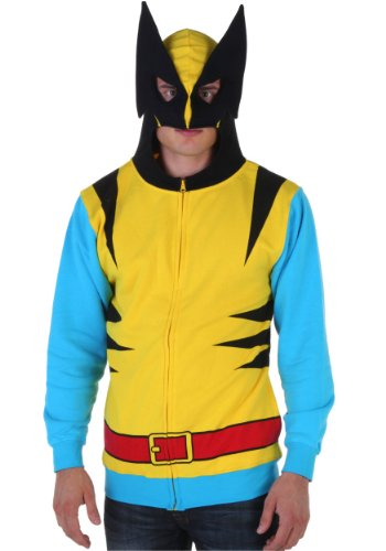 Licensed Marvel Wolverine Costume Hoody Sweatshirt - S to XXL