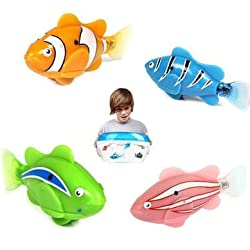 Popular Colorful Robot Electric Fish Toy Gifts for Kids Children