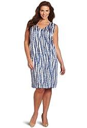 Anne Klein Women's Streamer Print Dress