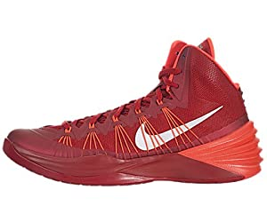 Nike Men's Hyperdunk 2013 TB Gym Red/Mtllc Slvr/Brght Crmsn Basketball Shoe 10 Men US