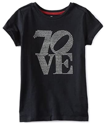 7 For All Mankind Girls 7-16 Jersey Tee女童款T恤$16.35 Black