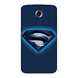 Gorgeous Blue Day Back Case Cover for Nexsus 6