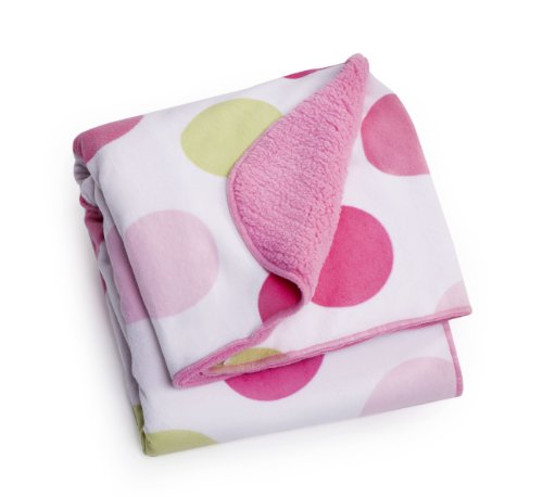 Carter's Velour Sherpa Blanket, Pink Dot (Discontinued by Manufacturer)