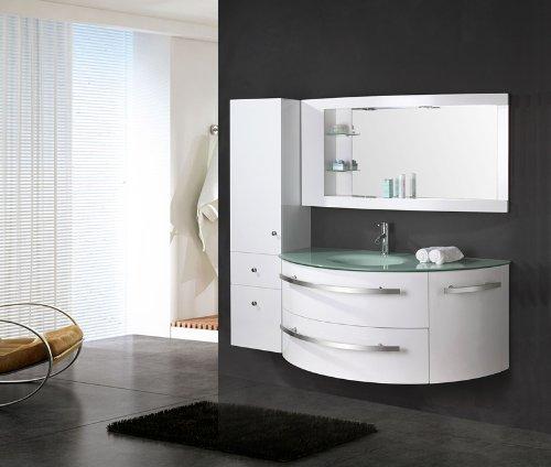 Design Badmöbel ᐅ luxus4home design badmöbel set côte d azur weiß hochglanz mit