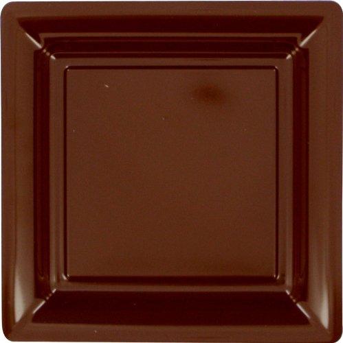 12-assiettes-plastique-carres-chocolat