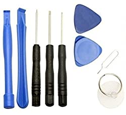 Electomania 9Pcs Open Pry Screwdriver Repair Tool Kit Set For iPhone 6 Plus 5 5s 5c 4 iPod.