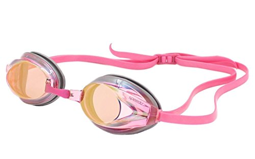 Speedo Vanquisher 2.0  Mirrored Goggle, Pink/Clear