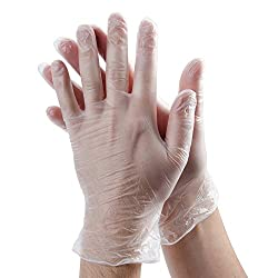 Lowprice Online(TM) All Purpose Standard Size Transperent Plastic Gloves (5 Pairs)