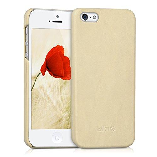 kalibri-Backcover-Hlle-aus-Echtleder-fr-Apple-iPhone-SE-5-5S-in-Beige