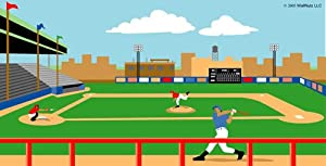 Wallnutz murals baseball stadium wall mural for Baseball field mural