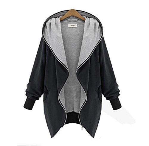 gillberry-new-womens-zipper-hoodie-kapuzen-jacket-parka-trench-coat-windbreaker-xxxxl-balck