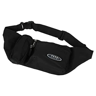 "JEEP TRAVEL PASSPORT WAIST BUM BAG ORGANISER POUCH FITS 32"" - 46"" OFFICIAL NEW"