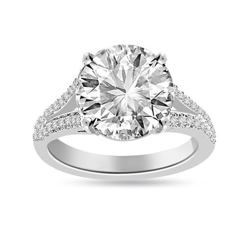 4.67 Ct Shenoa 'Signature' Diamond Engagement Ring in Platinum