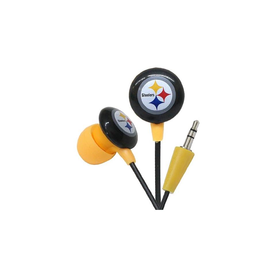 iHip NFH22PS NFL Pittsburgh Steelers DJ Style Headphones, Black/Yellow