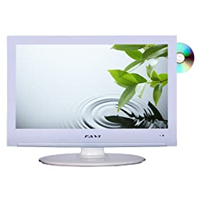 FAVI L1918A2-V-WH 19-Inch 720p LCD HDTV with Built-in DVD Player/USB, White