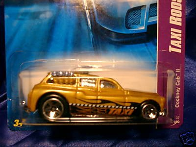 Hot Wheels 2007 TAXI RODS : Cockney Cab II (01 of 04 - 049/180) 1:64 Scale - 1