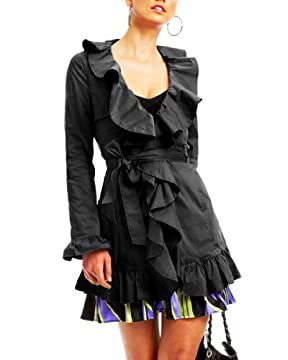 bebe.com : Ruffle Trim Trench :  chic sexy bebe fun