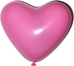 20 Stück schöne Latex-Herzen je 10 pinke und 10 weiße, Heliumgeeignet