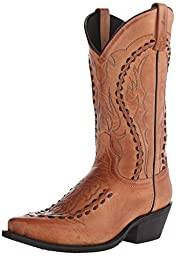 Laredo Men\'s Laramie Western Boot, Tan, 9 D US