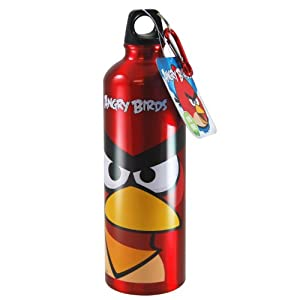 Angry Birds 24 Ounce Aluminum Water Bottle with Carabiner Assortment