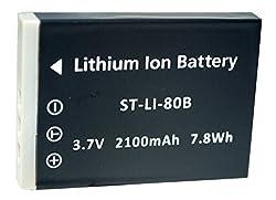 Replacement Battery Olympus LI-80B for T-100 T100 X-960 X960, DM-6331 DM5331 DS-4330 DS-4331 DS-4341 SL-63