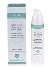 REN ClearCalm 3 Replenishing Night Serum 50ml