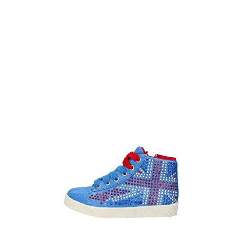 LULU' sneakers bambina blu tela strass AG663 (27 EU)