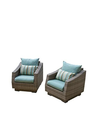 RST Brands Cannes Set of 2 Club Chairs, Blue