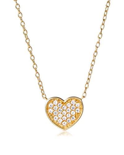Dolce Vetra Pave Heart Necklace