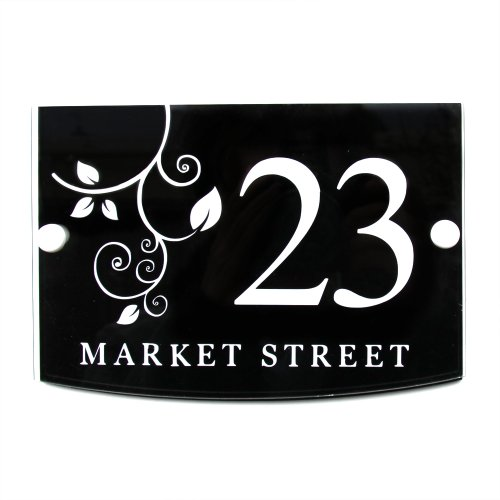 House Sign / Address Plaque Plate Modern with Door Number