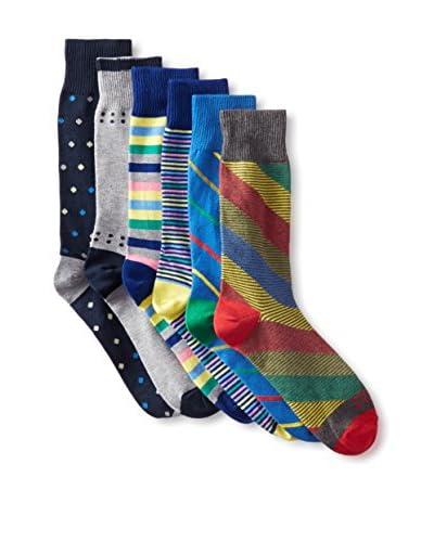 Funky Socks 30364H Men's Socks - 6 Pack, Assorted, One Size