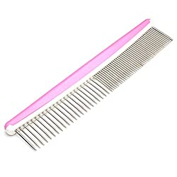 Pet Hair Grooming Stainless Steel Needle Skin Massage Comb