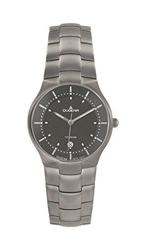 Dugena 4460484 - Reloj analógico de cuarzo para mujer con correa de titanio, color gris