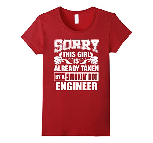 Women's Engineer Shirt - Cool Shirt for Engineer Girlfriend Large Cranberry (Engineer Girlfriend Shirt compare prices)