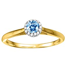buy 1 Ct. Cz Round Halo Solitaire In Two Tone Silver (1.1 Ct. Twt.)