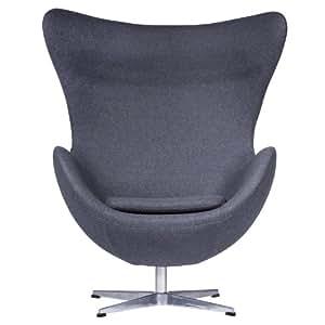 Amazon Com Leisuremod Arne Jacobsen Egg Chair In Dark
