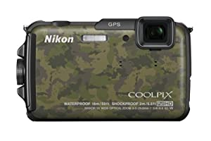 Nikon COOLPIX AW110 16 MP Waterproof Digital Camera with Built-In Wi-Fi (Camouflage)