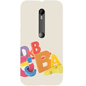Casotec Alphabets Design Hard Back Case Cover for Motorola Moto G 3rd Generation