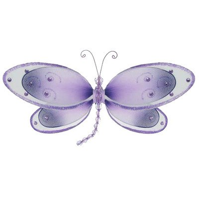 "The Butterfly Grove Avery Dragonfly Decor, Purple Wisteria, Medium, 11"" x 5"""