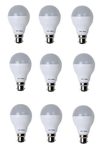 9 Watt LED Bulb (White, Pack of 9)