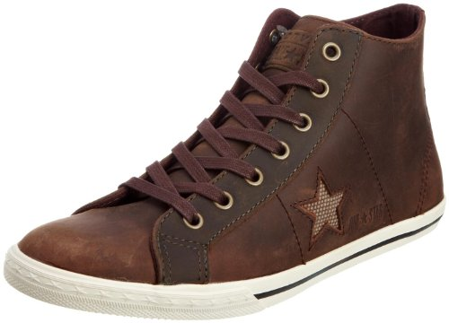 Converse Unisex Adult One Star Lo Pro Mid Boot Charcoal/Brown Trainer Textile 117120 2.5 UK