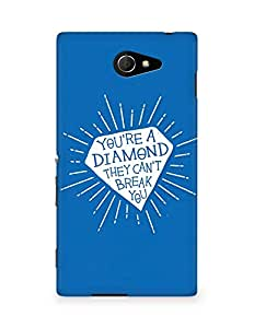 Amez designer printed 3d premium high quality back case cover for Sony Xperia M2 D2302 (Your a diamond)